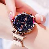Женские наручные часы Starry Sky Watch на магнитной застёжке Розовый, фото 5