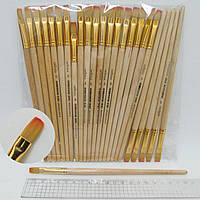 Кисть для рисования нейлон № 5 деревянная ручка кисть нейлон круглая 5