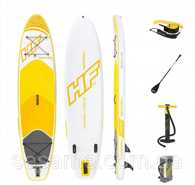Доска для SUP серфинга Bestway SUP-БОРД Aqua Cruise 65329 Надувная доска для серфинга САП Hydro Force