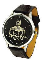 Мужские наручные часы Бэтмен, кварцевые, серебристый корпус