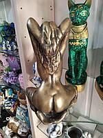 Статуэтка - денежный оберег Индианка, цвет - бронза, высота 27 см., фото 1