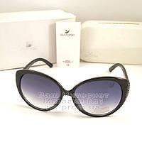 Женские солнцезащитные очки Swarovski овальные Сваровски Модные 2020 Стильные Брендовые реплика
