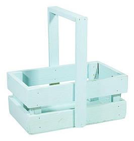 Ящик бірюза дерев'яний маленький BW-03