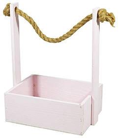 Ящик рожевий дерев'яний BW-07 (25х19х9,5см H-35)