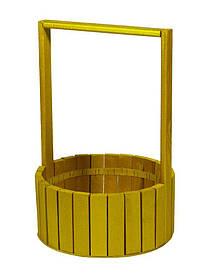 Кошик золота дерев'яна кругла велика BW-230
