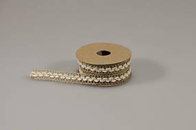 Стрічка 1,5смх2м лляна з бавовняної опліткою, Unison, 0815-4