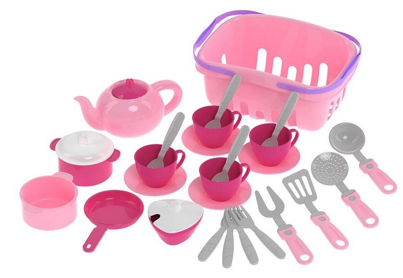 Посуд, сумка для дівчаток.Яскрава дитяча посуд.Набір дитячою іграшковою.