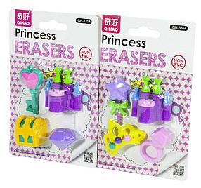 """Набір гумкою 4шт.""""Приналежності принцеси об'ємні""""-д/дів.,2в.(36*12)"""