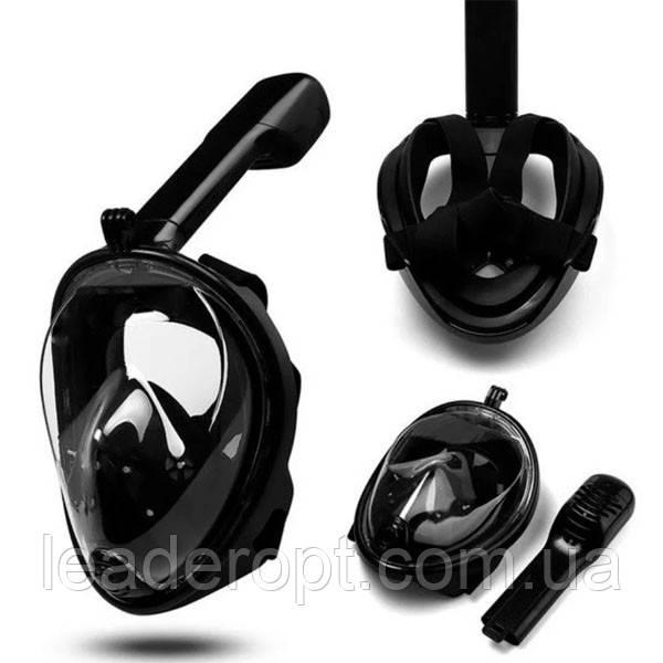 ОПТ Маска S/M ЧЕРНАЯ для подводного плавания, маска для снорклинга Easybreath Tribord