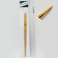 Кисть для рисования нейлон №10 деревянная ручка кисть нейлон круглая 10