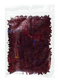Конфетті зірочки, червоні 15мм, 15гр