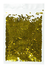 Конфетті шестигранник, золото 3мм, 15гр