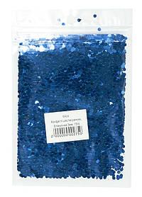 Конфетті шестигранник, блакитний 3мм, 15гр