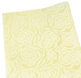 """Флізелін """"Троянда"""" 55х60см-20шт, тиснений в аркушах, кремовий, PFD-R cream"""