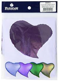 """Кулька фольгований PELICAN серце зігнуте 18 """"(45см) Фіолетовий (5шт"""
