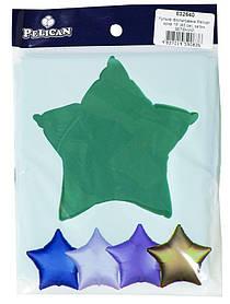 """Кулька фольгований PELICAN зірка 18 """"(45см) сатин зелений (5шт"""