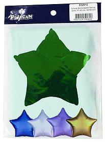 """Кулька фольгований PELICAN зірка 18 """"(45см) Зелений (5шт"""