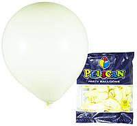 Шарики Pelican 10' (26 см), макарун желтый-2, 50шт/уп