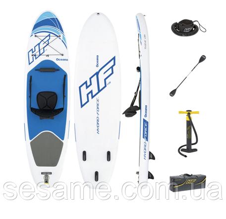 Надувная САП доска Bestway SUP-БОРД Oceana Set 65303 Надувная доска для серфинга SUP Hydro Force