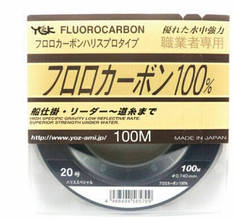 Леска Флюорокарбон 100%  YGK Fluorocarbon 100м #1.0/0.165mm