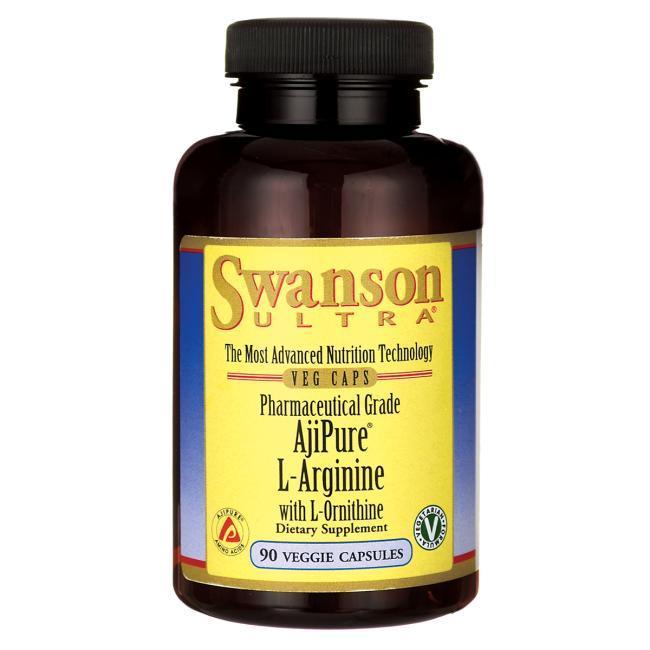AjiPure L-Arginine Pharmaceutical Grade with Ornithine аргинин 500 мг орнитин 250 гр высшего качества 90 капс