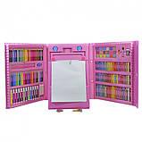 Детский набор для рисования 208 предметов в удобном кейсе с ручкой + Мольберт, фото 3