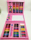 Детский набор для рисования 208 предметов в удобном кейсе с ручкой + Мольберт, фото 2