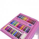 Детский набор для рисования 208 предметов в удобном кейсе с ручкой + Мольберт, фото 5