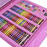 Детский набор для рисования 208 предметов в удобном кейсе с ручкой + Мольберт, фото 9