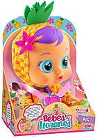 Интерактивная Кукла плакса IMC Toys 93829 Cry Babies Pia Тутти Фрутти Пупс Плачущий младенец ПИА Ананасик, фото 1