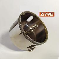 Коронка алмазная с направляющим сверлом по стеклу, керамике и плитке ZhiWei 16 мм