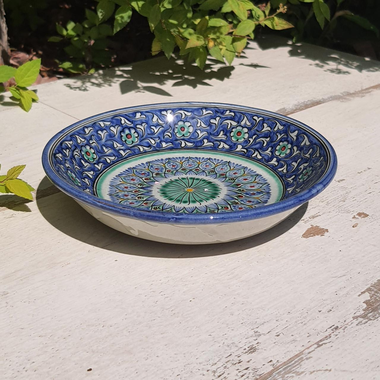 Тарелка с углублением d 15.5 см. Ручная роспись. Узбекистан (4)