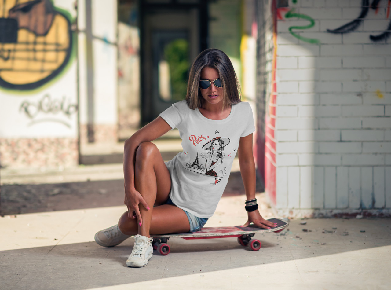"Женская футболка ""Girl coffee"""