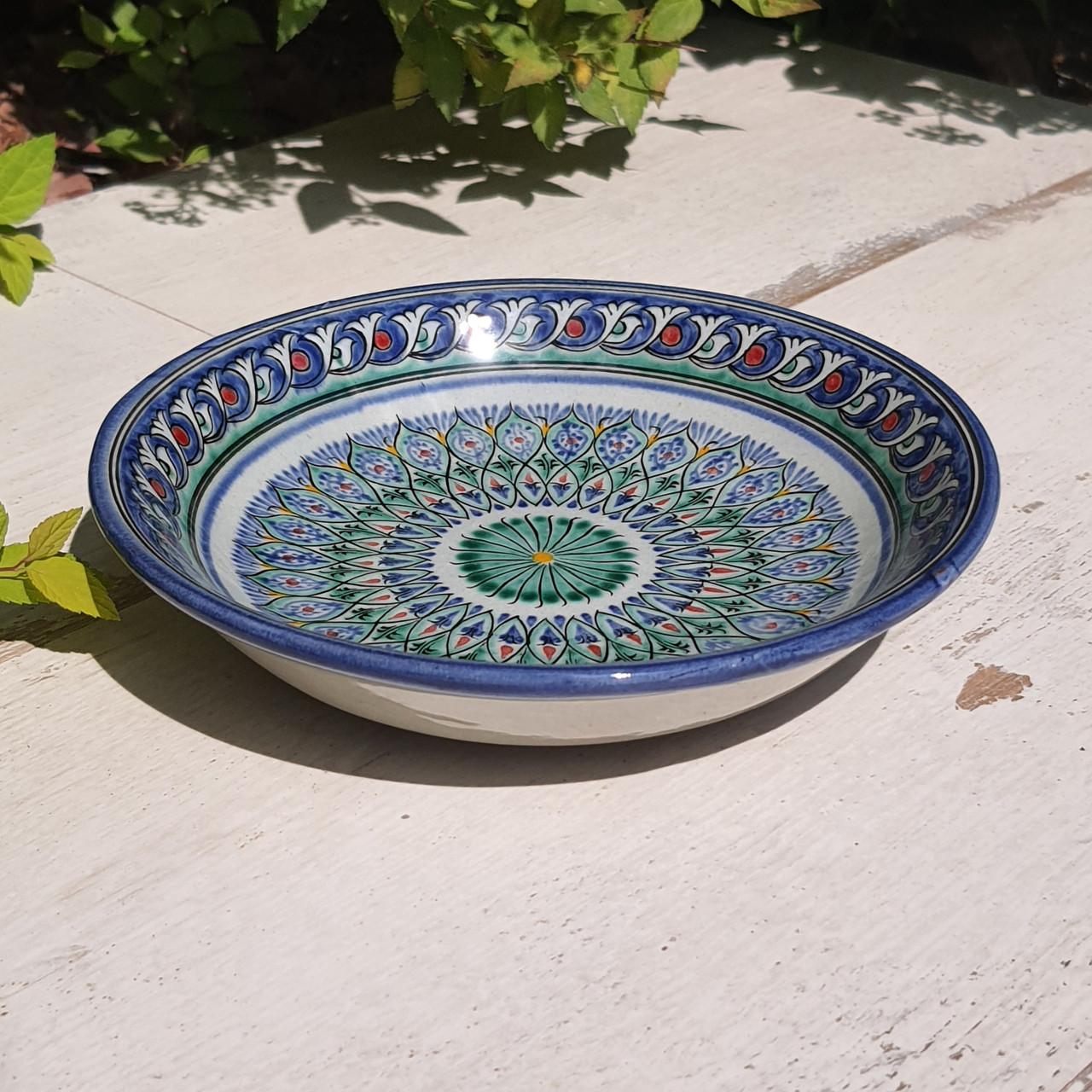 Тарелка с углублением d 15.5 см. Ручная роспись. Узбекистан (7)