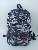 Рюкзак городской / спортивный молодежный с принтом Хаки серый