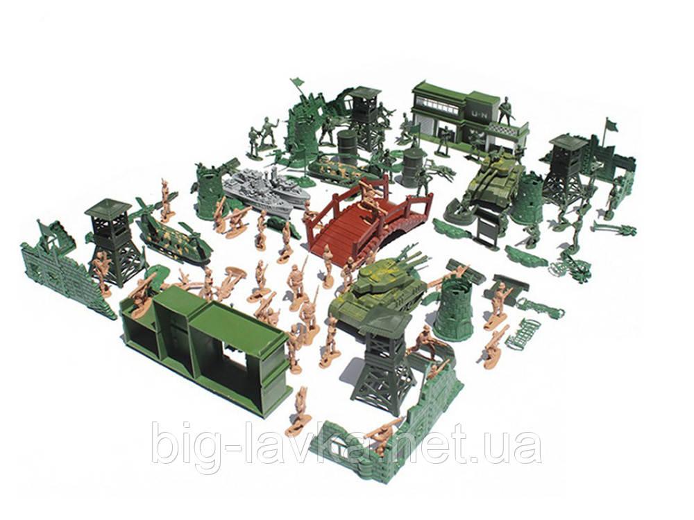 Армійський набір солдатикон танків і машинок 130 шт C