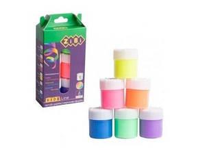 Краски акриловые Zibi Kids Line 6цв./10мл. неон ZB.6661 (80)