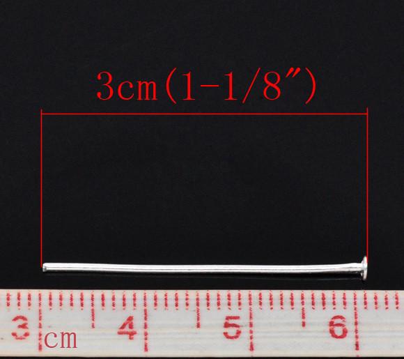 Пины с плоской шляпкой 31 мм 1г серебро для рукоделия