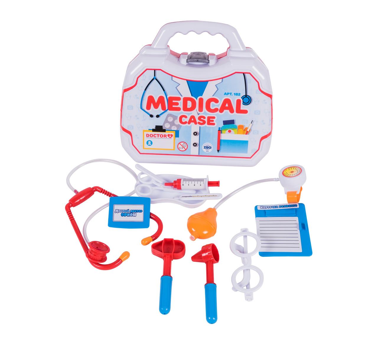 Медицинский игровой набор Доктор (в чемодоне) 182OR