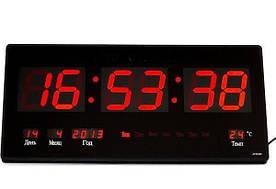 Настенные электронные часы LED Digital Clock 3615 Черный (R0186)