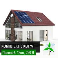 Солнечная электростанция под Зеленый тариф СтартАП 3 кВт*час с возможностью расширения до 10 кВт*час