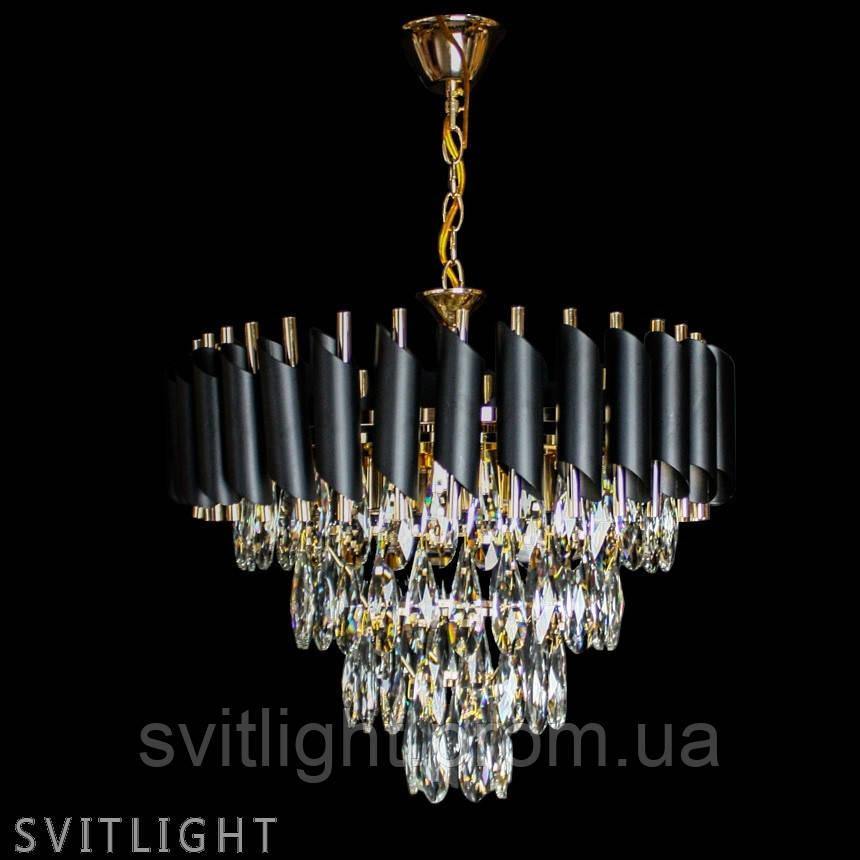 Современная люстра 1721/6 FG/BK Svitlight