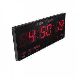 Настенные электронные часы LED Digital Clock большие Черные (R0540)