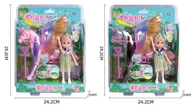 Лялька 53811 (48/2) 2 види, кінь, аксесуари, в слюді