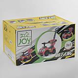 Машина-толокар JOY 09-203 В (1) цвет СИНИЙ, РУССКОЕ ОЗВУЧИВАНИЕ, родительская ручка, съемный защитный бампер,, фото 2