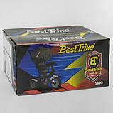 Велосипед 3-х колёсный 5890 / 82-239 Best Trike (1) ФАРА C USB, ПОВОРОТНОЕ СИДЕНИЕ, СКЛАДНОЙ РУЛЬ, Рус.озвучка, НАДУВНЫЕ КОЛЕСА, ПУЛЬТ(свет,звук), фото 2