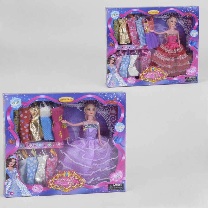 Кукла с нарядами В 386-2 (48/2) 2 вида, в коробке