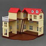 """Вилла """"Счастливая семья"""" 012-10 (6) мебель, 2 фигурки, подсветка, в коробке, фото 3"""