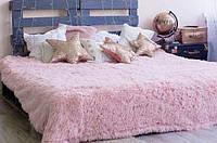 """Яркий пушистый бамбуковый плед покрывало для кровати """"Травка"""" полуторный 160х210 (большой выбор цветов)"""