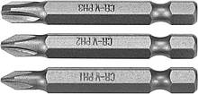 """Насадка викрутки STHOR : """"Phillips"""" PH1, PH2, PH3 x 50 мм, HEX 1/4"""", Cr-V, 3 шт Sthor 65462"""